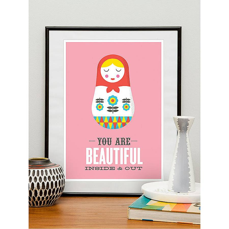 you are retro framed print