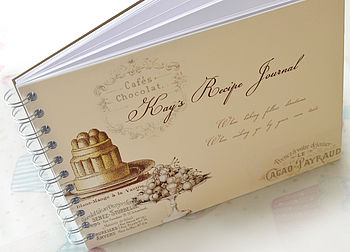 Personalised Vintage Style Recipe Journal