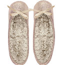 Ladies Shimmer Ballerina Slippers