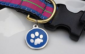 Personalised Dog Id Paw Tag - personalised
