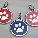 Personalised Dog Id Paw Tag