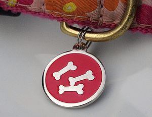 Personalised Dog Id Bone Tag - dog tags & charms