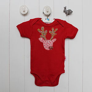 Short Sleeve Reindeer Bodysuit - fancy dress