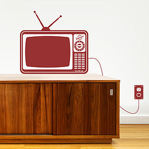 Retro Tv Wall Sticker - wall stickers