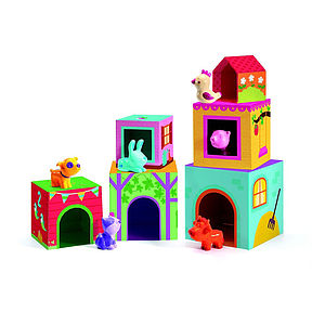 Set Of Stacking Blocks With Animals - toys & games