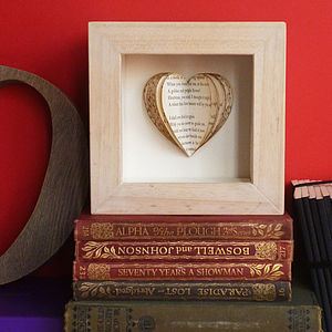 Bespoke Poetry Heartbook - art & pictures