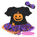 Halloween Pumpkin Baby Onesie And Pettiskirt Tutu