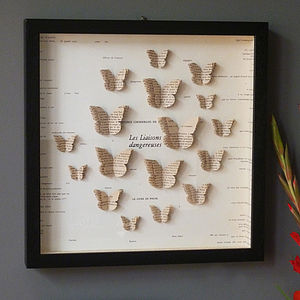 Bespoke Butterfly Book Artwork - home accessories