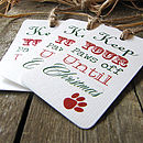 Pack Of Five 'Paws Off' Christmas Gift Tags