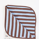 Boys Reversible Pram Blanket