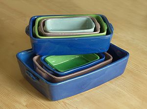Handmade Rectangular Bakers - serving dishes