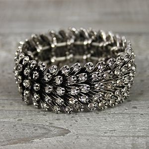 Crystal Metal Feather Bracelet - women's jewellery