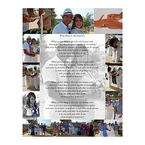 Photo Montage And Personalised Poem Canvas - photo shoots & portraits