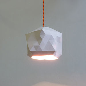 Faceted Pendant Light