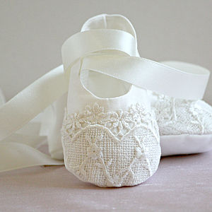 Christening Booties 'Lucy'