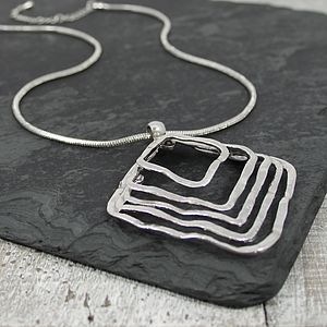 Mazey Metal Necklace - necklaces & pendants