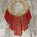 Gold Collar Tassle Necklace