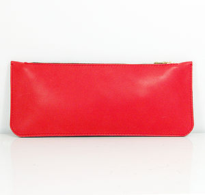 Hand Crafted Contrast Leather Clutch Bag - bags & purses
