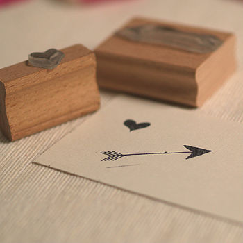 Valentines Heart And Arrow Stamp Set