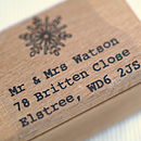 Christmas Snowflake Address Stamp
