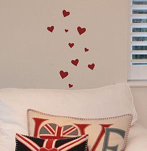 Set Of Mini Heart Stickers - bedroom