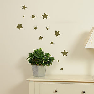 Set Of Mini Star Stickers - children's room