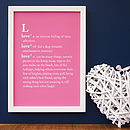 Personalised Word Dictionary Print