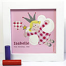 Gingham Fairy Print Personalised