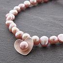 Pearl Heart Bracelet - Pink