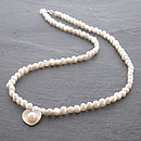 Pearl Heart Necklace - White