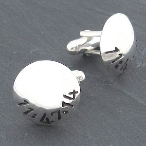 Personalised Dome Cufflinks - christmas delivery gifts for him