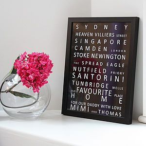 Bespoke Memory Lane Destination Framed Print