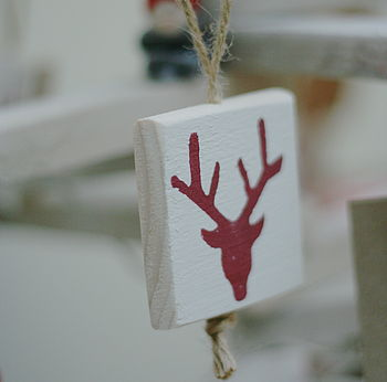 Stag Head Tree Decorations