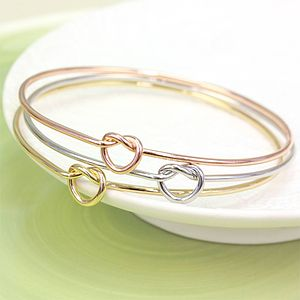 Set Of Three Love Knot Bangles - gifts for her
