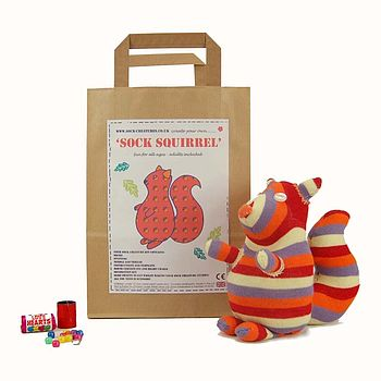 Sock Squirrel Craft Kit