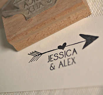 Personalised Wedding Favour Arrow Stamp