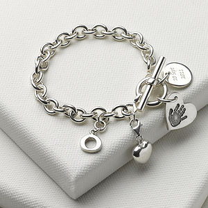 Personalised Birth Day Bundle Toggle Bracelet - bracelets & bangles