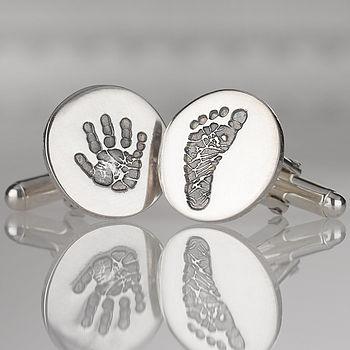 Personalised Silver Print Cufflinks