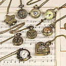 Other vintage style watch necklaces