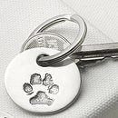 Your Pet's Paw Print Key Ring