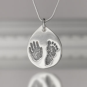 Personalised Hand And Footprint Necklace - necklaces & pendants