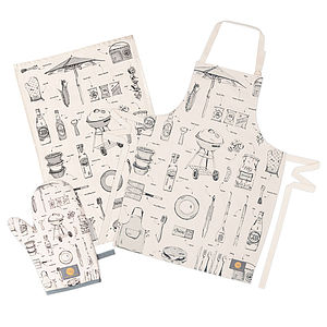 British BBQ Gift Set - aprons