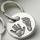 Personalised Hand And Foot Print Keyring