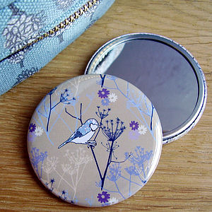 Cow Parsley Pocket Mirror - beauty accessories