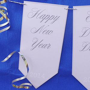 Happy New Year Bunting - outdoor decorations