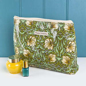 Washbags In William Morris Oilcloth Fabric - make-up bags