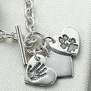 Classic Toggle Charm Bracelet with Hand/Footprint charm