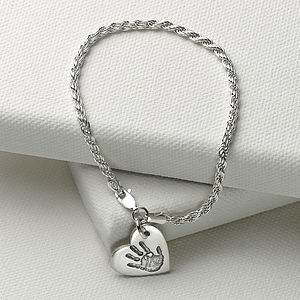Rope Bracelet With Personalised Charm