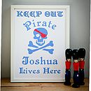 Childrens Personalised 'Pirate' Print