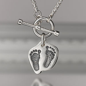 Personalised Contoured Print Necklace - necklaces & pendants